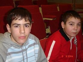 Лагерь на каникулах. Лебедев Александр и Муратов Тема (справа)