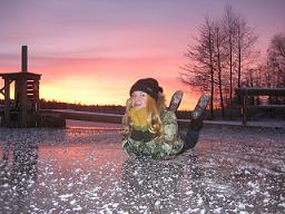 В детском лагере на зимние каникулы. Михеева Ульяна